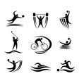 Sports icons and symbols vector image vector image