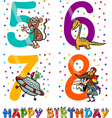 birthday cartoon design for boy vector image