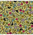 insects pattern vector image vector image