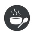 Monochrome round hot soup icon vector image