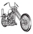 and drawn and inked vintage american chopper motor vector image