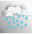 clouds raining vector image