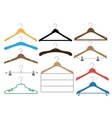 Coat hangers set on the white background vector image
