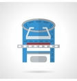 Colored xray machine flat icon vector image