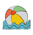 floating beach ball vector image
