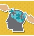 Puzzle icon design vector image