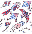 seamless pattern of sketch doodle style kites vector image