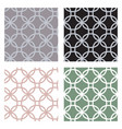 set of geometric seamless patterns with circles of vector image