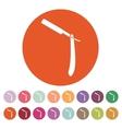 The razor icon Shaver symbol Flat vector image
