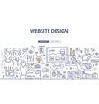 Web Design Doodle Concept vector image