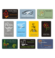 Business name card set vector image vector image