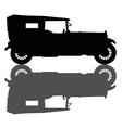 Vintage black convertible vector image