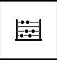 school abacus solid icon education and school vector image