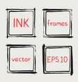 whimsical frames hand painted with brush vector image