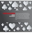 Background paper symbols card suits vector image