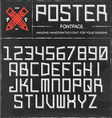 Retro Poster Font vector image