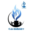 Well gas production and gas processing vector image vector image