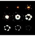 Explode effect animation Cartoon explosion frames vector image vector image