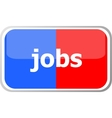 jobs word on web button icon isolated on vector image