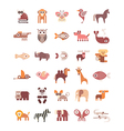 animal icons vector image