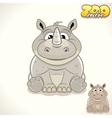 Cartoon Rhino Character vector image