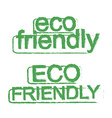Eco friendly ecology sign Green vector image