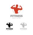 Fitness sport center logo vector image