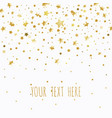 golden stars on a white background vector image