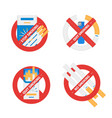 isolated signs set of stop smoking vector image