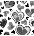 Seamless hand drawn pattern with hearts vector image