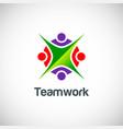 teamwork colored logo vector image