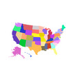 usa state map colored vector image