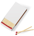 Realistic matchbox vector image vector image