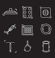 contraception methods line icon vector image