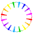 colorful icon of people in circle vector image