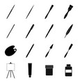 set of tools for drawing and painting vector image