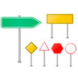 road sign set traffic blank sign vector image