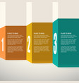 Template for presentation Infographics design vector image vector image
