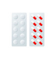 pills blister flat isolated vector image