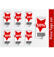 Set of Discount labels with bar code vector image