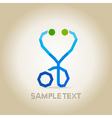 Stethoscope abstraction vector image
