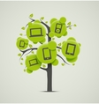 Tree with electronics vector image
