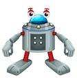 A cute gray robot vector image vector image