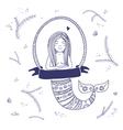 mermaid isolated vector image