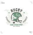 Rugby team helmet emblem vector image