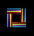Colorful square logo vector image