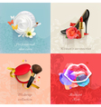 Beauty and cosmetics set of concepts backgrounds vector image vector image