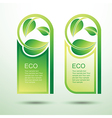 Eco template 3 vector image