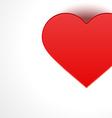 heart gift top view vector image vector image