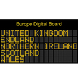 Europe airport digital boarding vector image